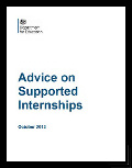 Image of advice on supported internships
